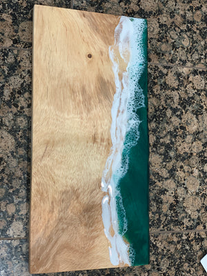 Large Live Edge Serving Board - Seascape