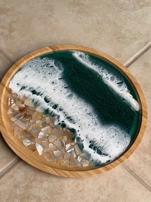 Custom Bamboo Wood Tray - Mother of Pearl