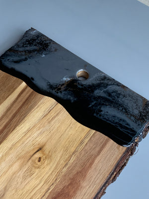 Live Edge Serving Board - Grey