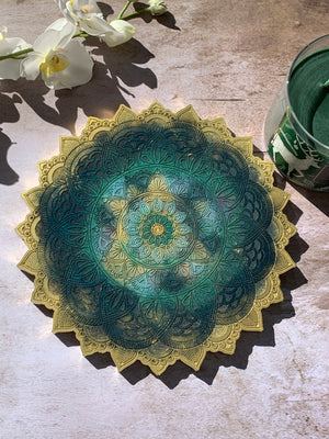 Mandala Art Tray - 9""