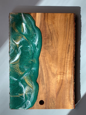 Live Edge Serving Board - Emerald