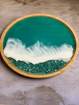 Seashells Tray: Tropical Blue