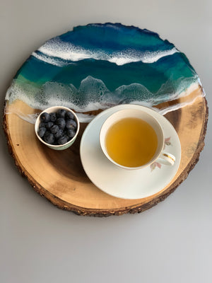 Wooden Ocean Art Serving Board