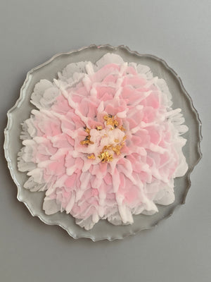 3D Floral Coasters - Mixed Pink