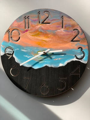 California Sunset Wall Clock