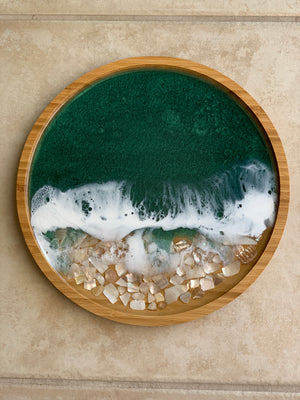 Bamboo Wood Tray - Mother of Pearl