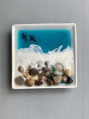 Ocean Art Ring Dish - Rocks