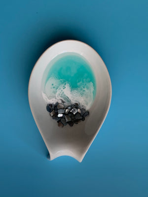 Unique Seascape Spoon Rest