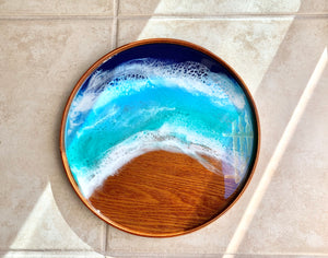 Ocean Art Wooden Tray