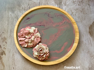 3D Sculpture Floral Bamboo Tray