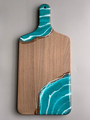 Walnut Wood Cheese Board - Seascape