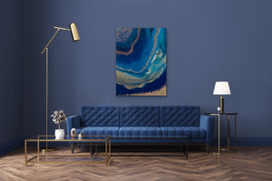 3D Resin Art - Blue Room- 36x40in