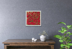 3D Resin Art - Rose Bush - 24x24in
