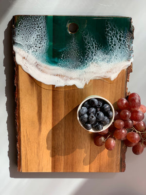 Live Edge Serving Board - Seascape