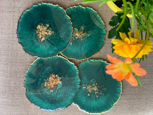 Drink Coasters - Emerald