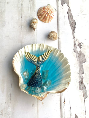 3D Natural Shell Jewelry/Decorative Dish: 5""