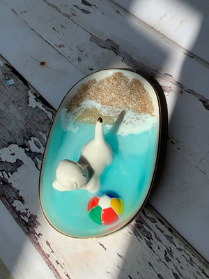 Dog & Beach Ball Ring Dish