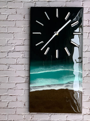 """Calm"": Emerald Isle Beach Scene Wall Clock"
