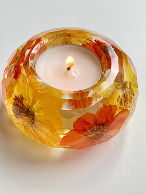 Dried Flowers Candle Holder