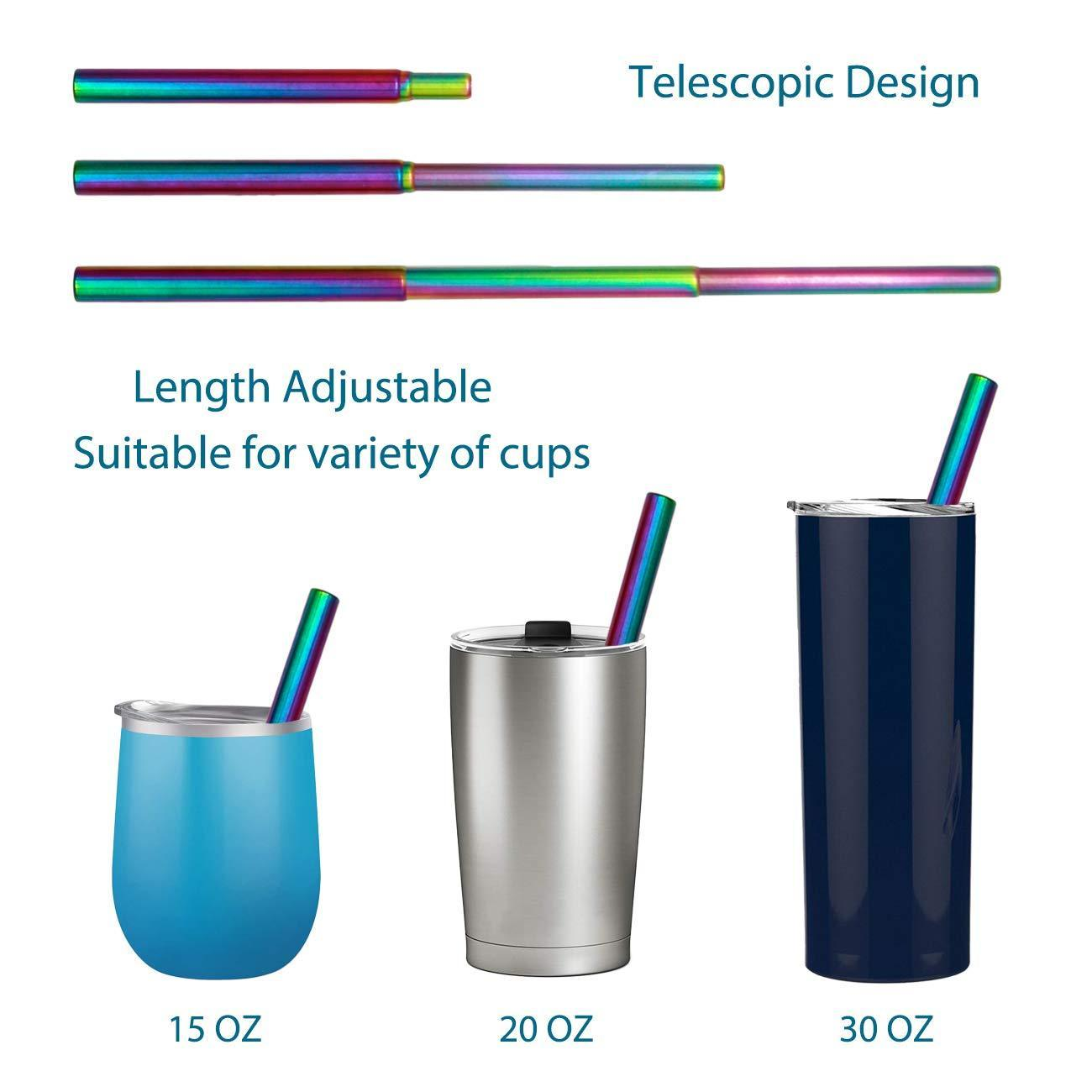 (50% OFF! Today)  Reusable Telescopic Eco-friendly Straw -BUY 2,  FREE SHIPPING