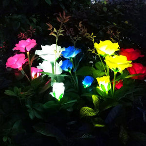 50%OFF-Solar Powered LED Rose Stake购买更多保存更多