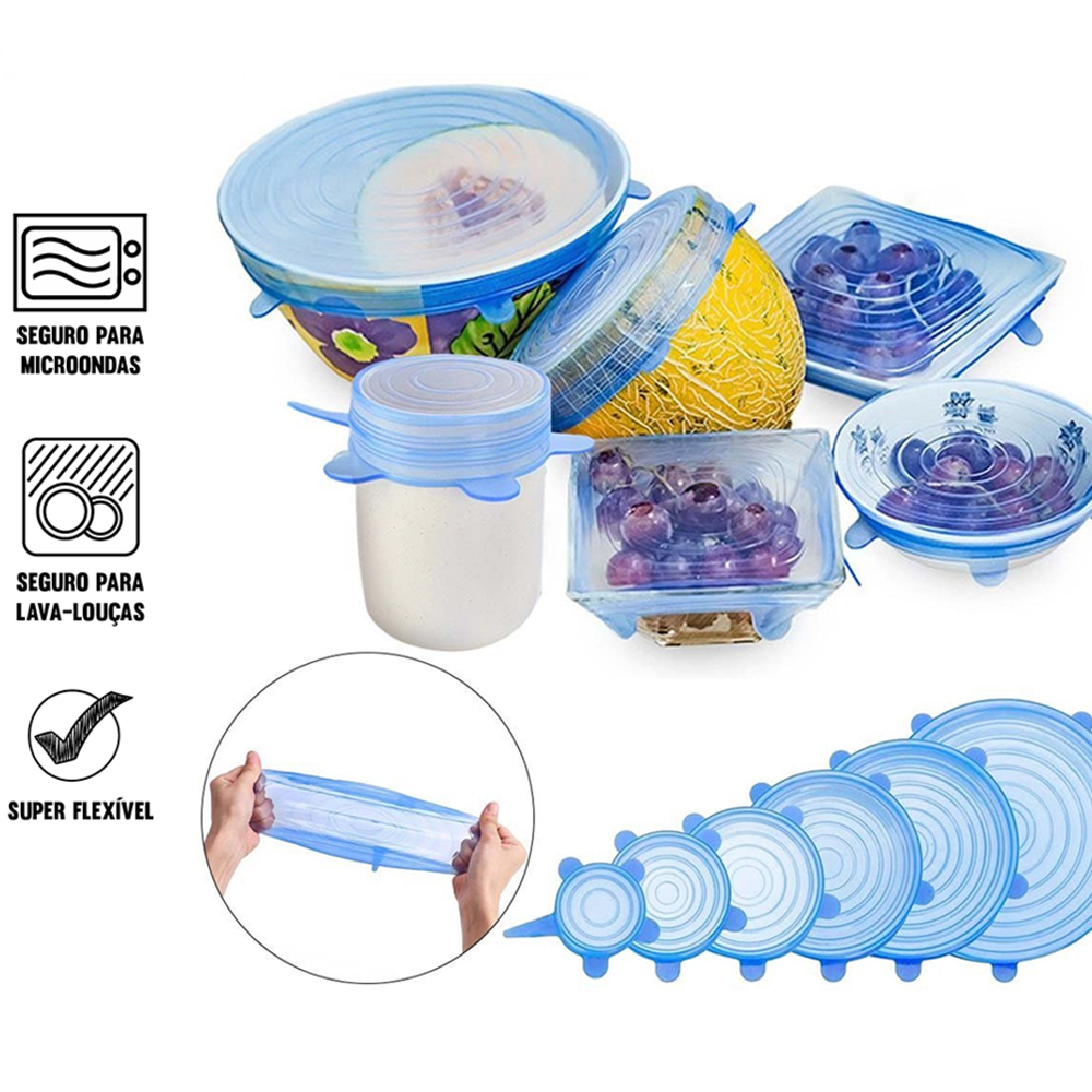 50% OFF-Stretch & Fit - Silicone Stretch Lids (6pcs)【Buy 3 free shipping】