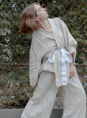 Deiji Sleepwear Set, Oatmeal