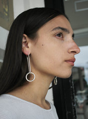 Sarah Shikama Moon Mirror Earrings