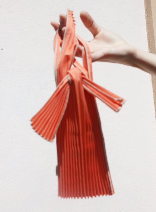 KNA Plus vertical pleated bag, mini (orange)