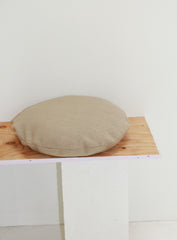 Klay Disc Squab Pillow - Oatmeal Heavy Linen