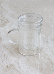 GLASS INFUSER TEA MUG