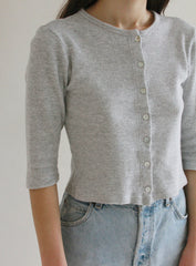 Grey Thermal Cardigan
