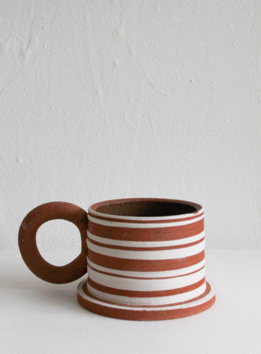 Sister Ceramics - Raw Striped Mug #2