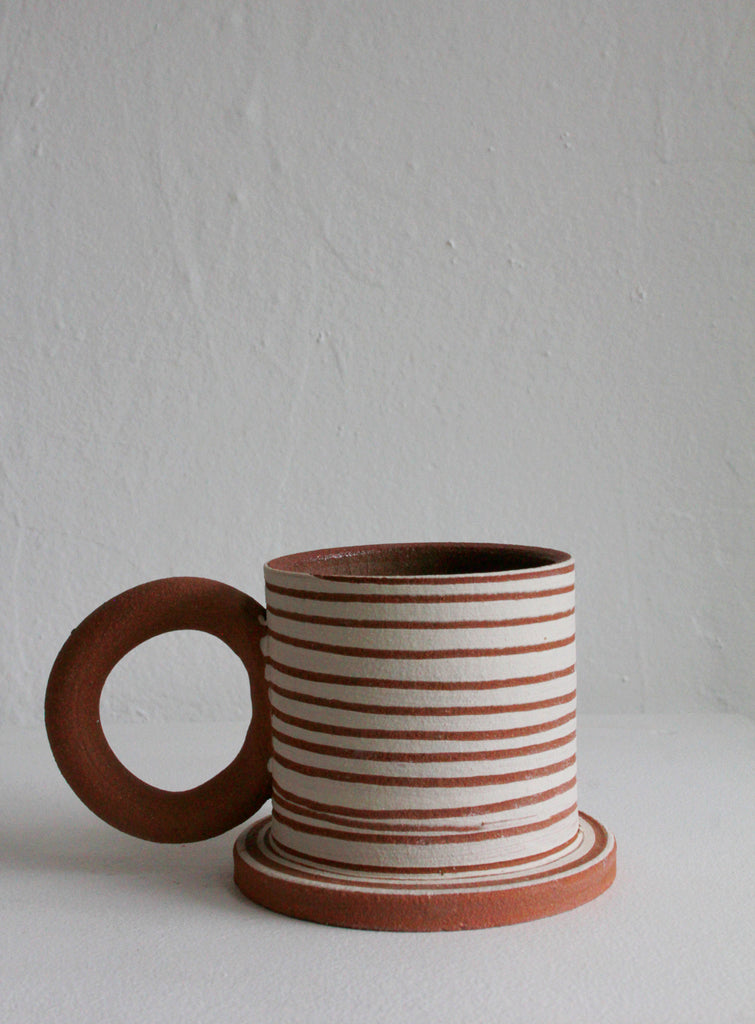 Sister Ceramics - Raw Striped Mug #1