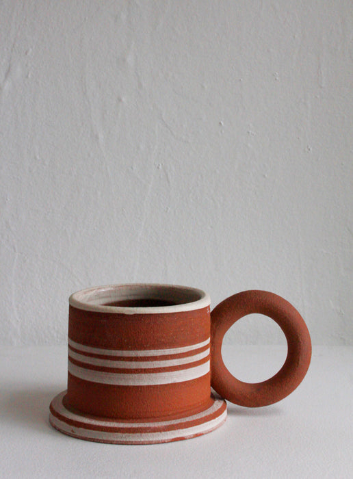 Sister Ceramics - Raw Striped Mug #3