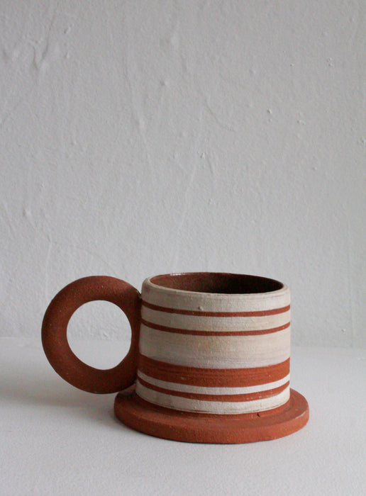 Sister Ceramics - Raw Striped Mug #4