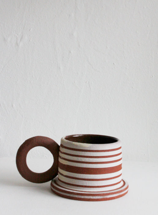 Sister Ceramics - Raw Striped Mug #5