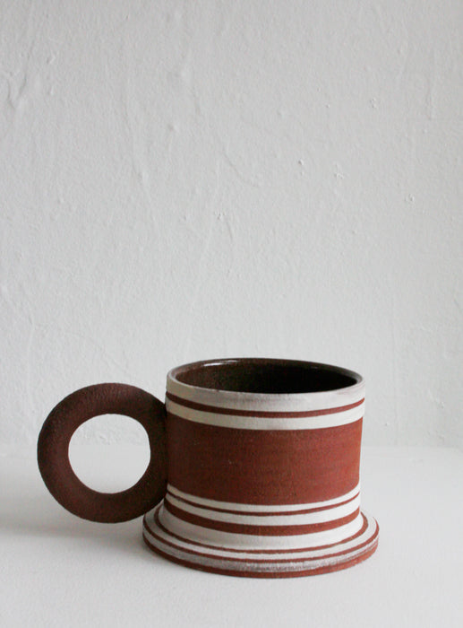 Sister Ceramics - Raw Striped Mug #6
