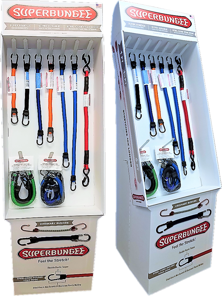 SuperBungee Cords can now be found in select retail locations; get the best bungee cord for multiple needs today!