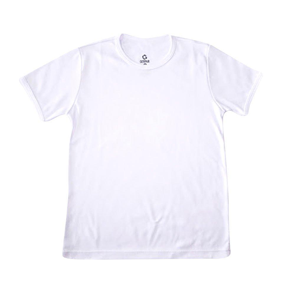 camiseta cuello redondo tela lisa blanco talla 8 color blanco