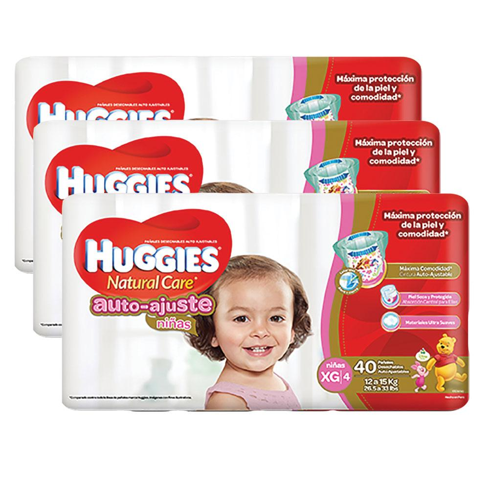 etapa 4   120 panales huggies natural care auto ajuste   ninas