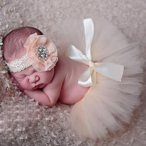 Newborn Baby Infant Costume Outfit Princess Tutu Skirt Matching Headband New Newborn Baby Princess Design Photography Props
