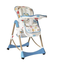 Load image into Gallery viewer, Folding Chair Plastic Metal Baby Dining Chair,Adjustable Baby Booster Seat High Chair Portable Cadeira Infantil,Cadeira ParaBebe