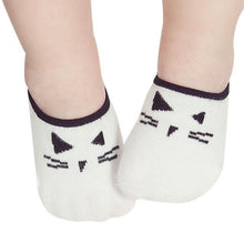 Load image into Gallery viewer, kids boy Kids socks Lovely Baby Boy Girl Cartoon Cat Print Elastic Socks Antiskid Socks