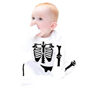 Cotton Skeleton Long Sheeve Jumpsuit
