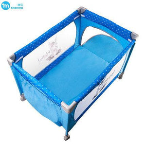 SHENMA multifunctional fold baby game bed, light portable baby bed, baby cradle with toy rack, foldable baby crib