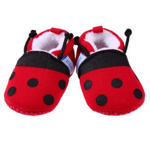 Load image into Gallery viewer, Baby Shoes Soft Cotton  Ladybug