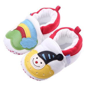 Rainbow Cartoon Baby Shoes Soft Sole Footwear Shoes for Boys Girls Babies Autumn Winter Warm Christmas Baby Moccasins Gift