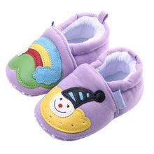 Load image into Gallery viewer, Rainbow Cartoon Baby Shoes Soft Sole Footwear Shoes for Boys Girls Babies Autumn Winter Warm Christmas Baby Moccasins Gift