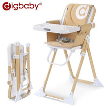 Load image into Gallery viewer, Mini Fold Baby Dining High Chair Ultra Light Weight Thin With Portable Bag